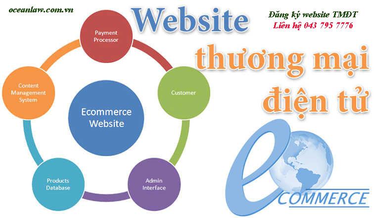 Thông báo, đăng ký website thương mại điện tử bán hàng