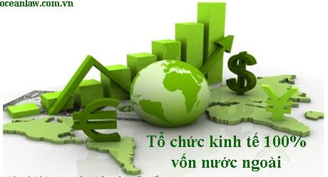 Thành lập tổ chức kinh tế 100 vốn nước ngoài