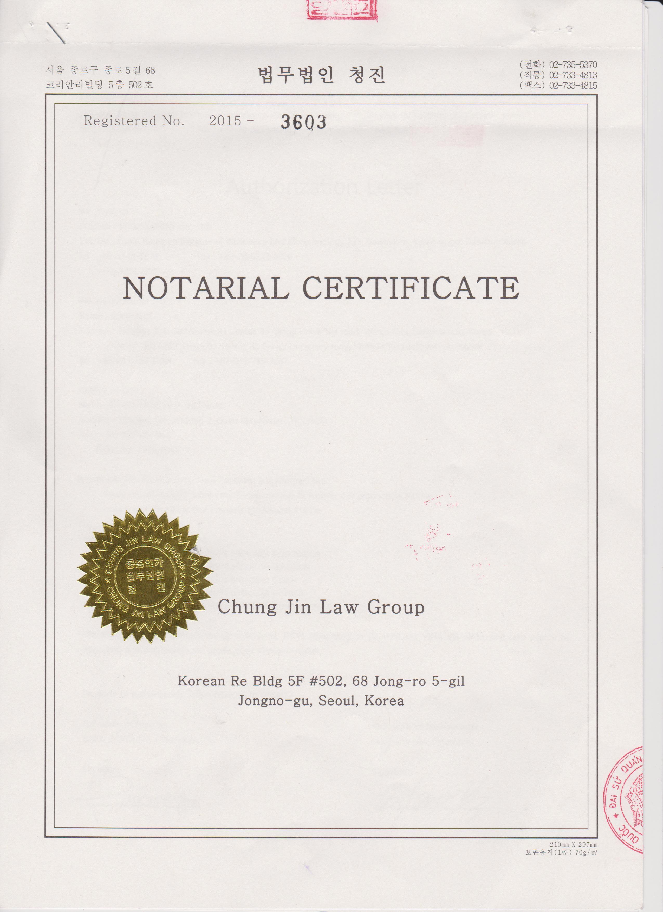 Mẫu giấy ủy quyền công bố mỹ phẩm