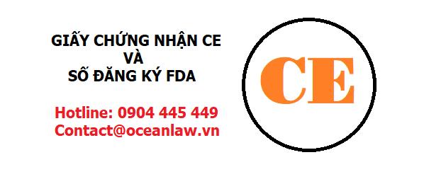 Xin giấy chứng nhận CE và số đăng ký FDA