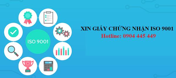 Xin giấy chứng nhận ISO 9001