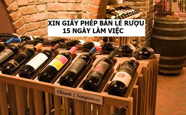 Xin giấy phép bán lẻ rượu